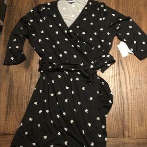 Cat wrap dress NWT